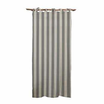Draperie Linen Cuture Cortina Hogar Grey Stripes, gri la pret 393 lei