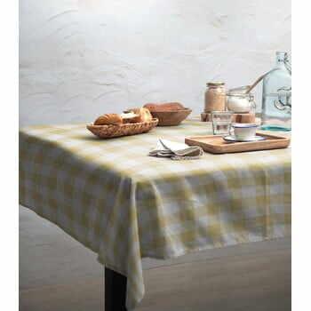 Față de masă Linen Couture Beige Vichy, 140 x 140 cm la pret 222 lei