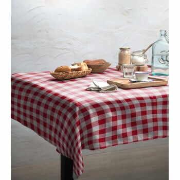 Față de masă Linen Couture Red Vichy, 140 x 140 cm la pret 222 lei