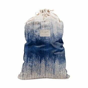 Sac textil pentru rufe Linen Bag Blue Hippy, înălțime 75 cm la pret 183 lei