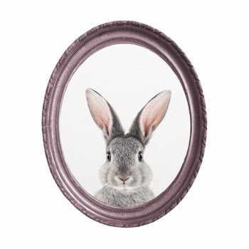 Tablou oval de perete cu ramă Really Nice Things Rabbit, 40 x 50 cm la pret 208 lei