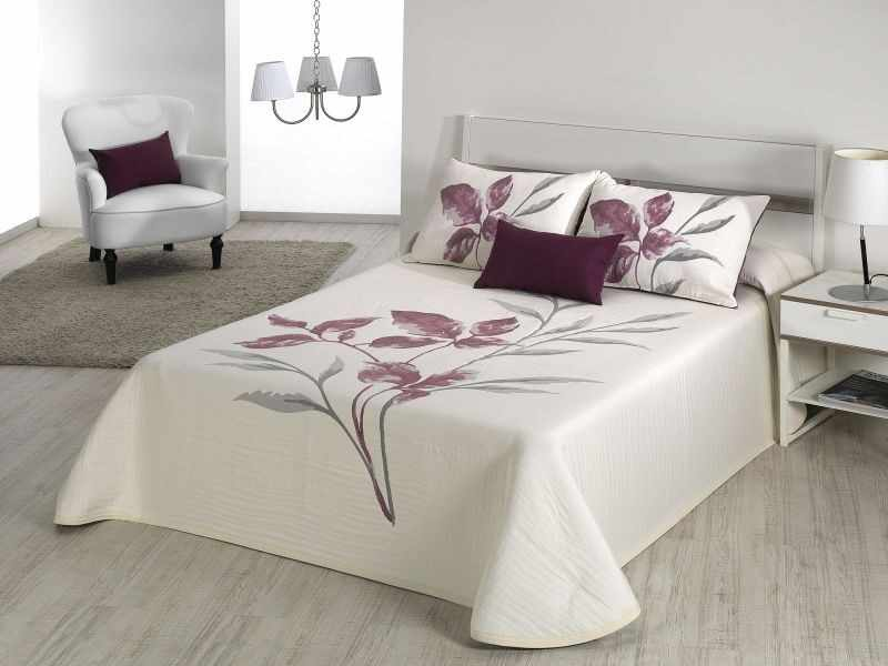 Cuvertura de pat LEAVE antique purple, dimensiune 280 cm x 270 cm