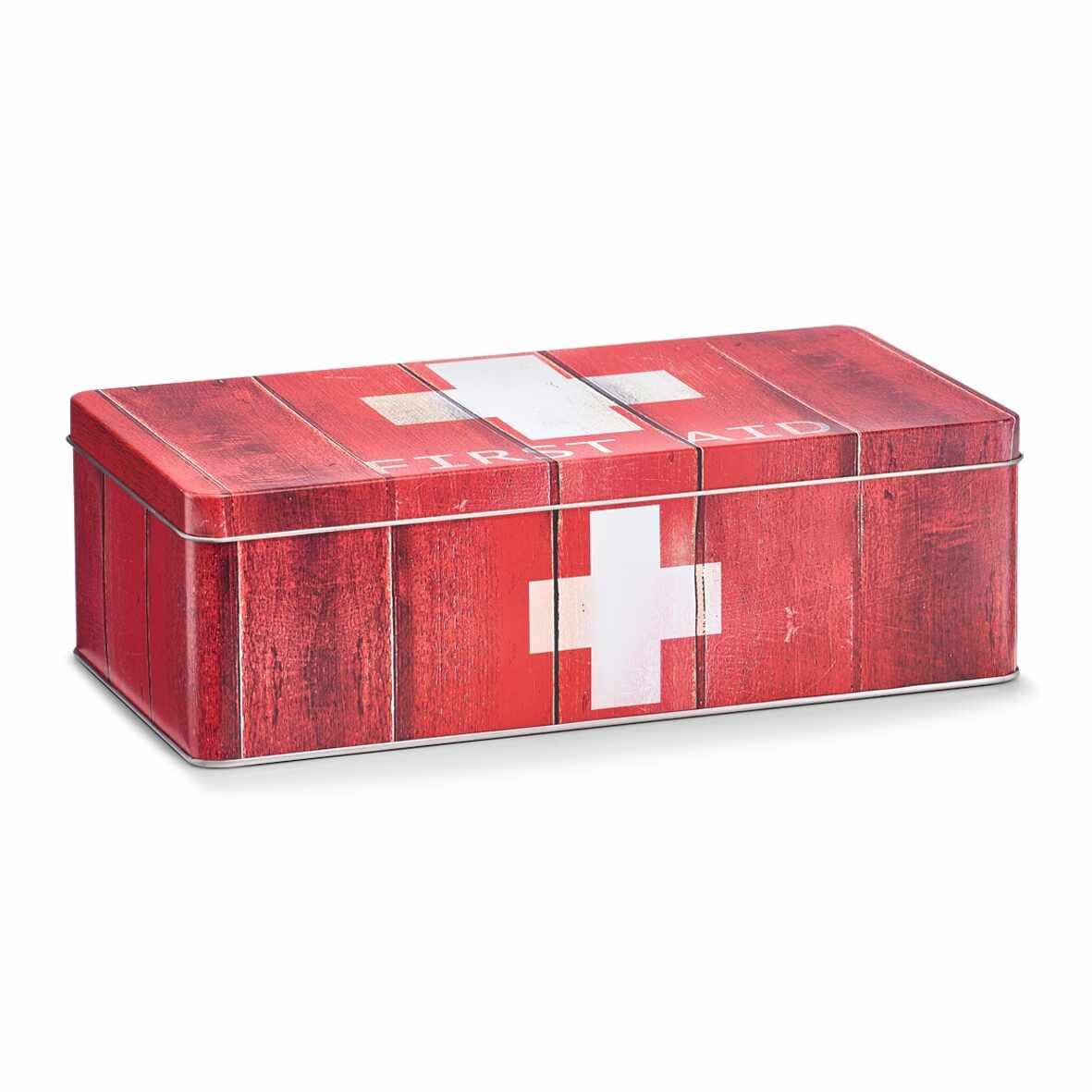 Cutie pentru depozitarea medicamentelor, First Aid, Metal Red, l26,2xA13,8xH8,2 cm la pret 35 lei