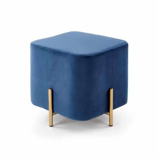 Taburet elegant albastru Corno la pret 266 lei