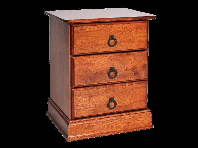 Noptiera din lemn si MDF, cu 3 sertare Boston Cires, l48xA40xH58 cm la pret 643 lei