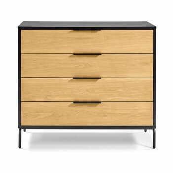 Comodă cu sertare La Forma SAVOI, 100 x 90 cm, maro-negru la pret 2736 lei