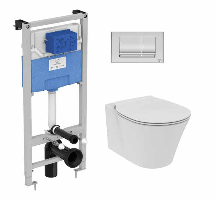 Set vas wc suspendat Ideal Standard Connect Air AquaBlade cu capac inchidere lenta si rezervor Ideal Standard Prosys la pret 1899 lei