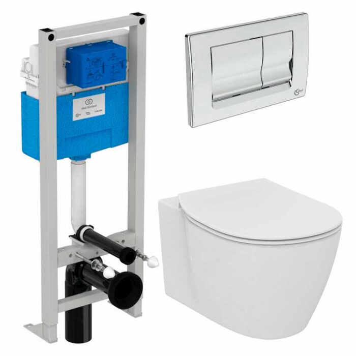Set vas wc suspendat Ideal Standard Connect AquaBlade cu capac inchidere lenta si rezervor Ideal Standard Prosys la pret 1929 lei