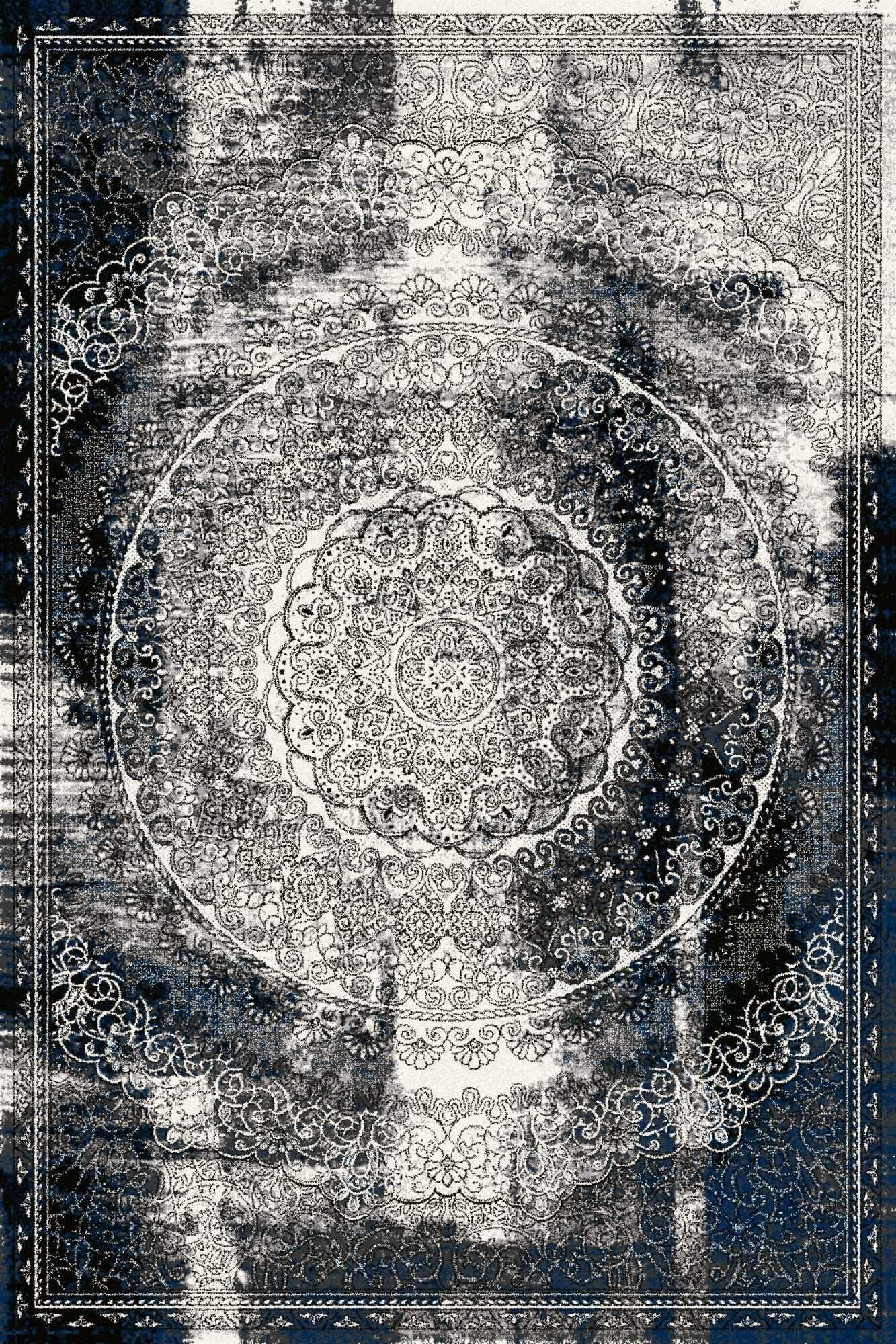 Covor din lana Cirrus Negru, Wilton la pret 980 lei