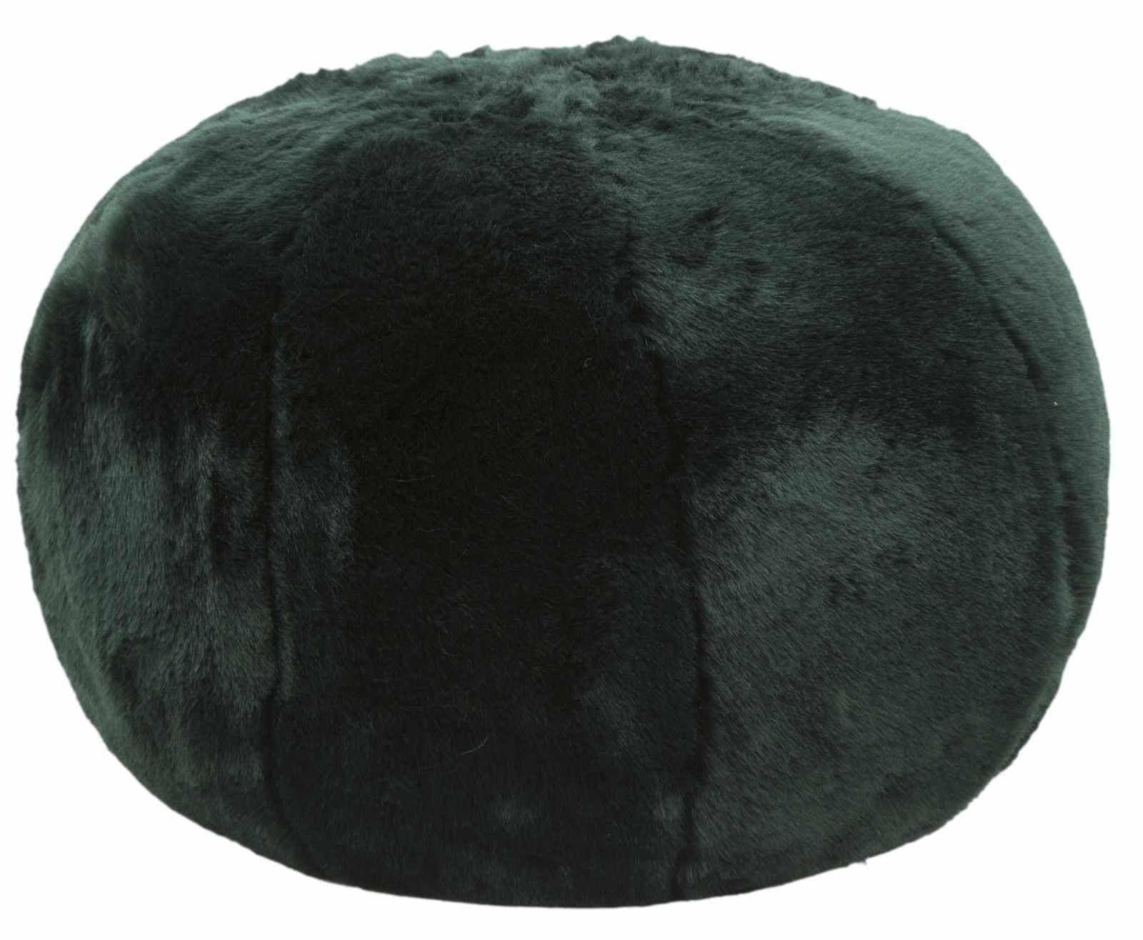 Taburet tapitat cu stofa Plush Verde inchis, Ø50xH30 cm la pret 447 lei