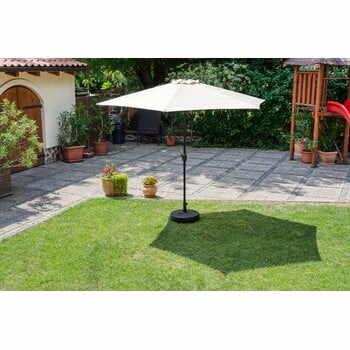 Umbrelă de soare de grădină Timpana Parasol, maro cappucino la pret 313 lei