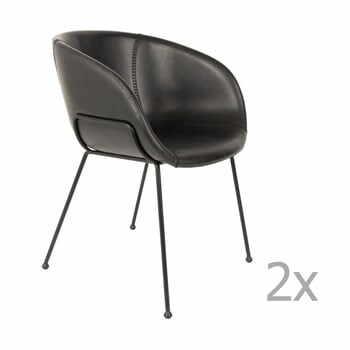 Set 2 scaune Zuiver Feston, negru la pret 2767 lei