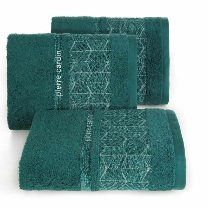 Set 3 prosoape baie din bumbac Teo Pierre Cardin Verde inchis la pret 195 lei