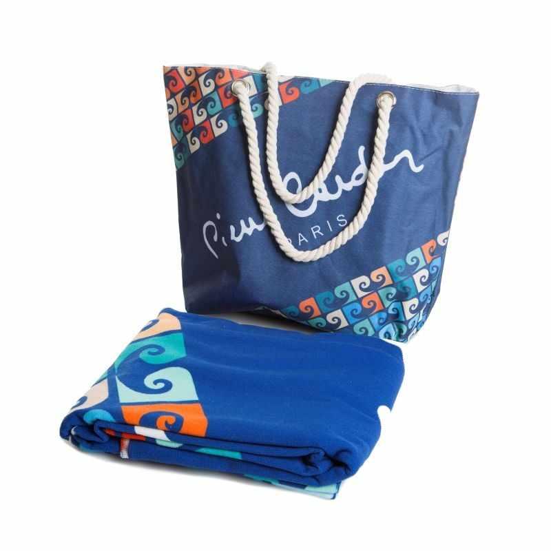 Set geanta si prosop de plaja Paul Pierre Cardin Multicolor, 100 x 180 cm la pret 198 lei