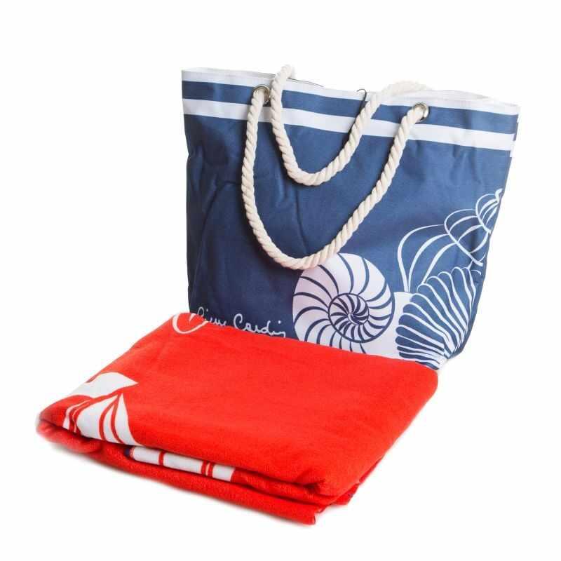 Set geanta si prosop de plaja Tom Pierre Cardin Multicolor, 100 x 180 cm la pret 177 lei