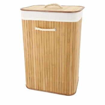 Coș din bambus pentru rufe Compactor Rectangular la pret 165 lei