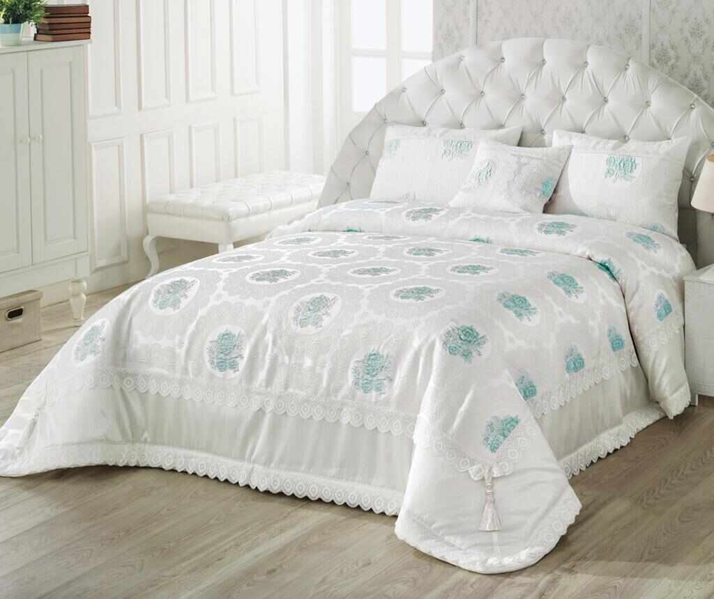 Set cuvertura King Lidya Aqua la pret 879.99 lei