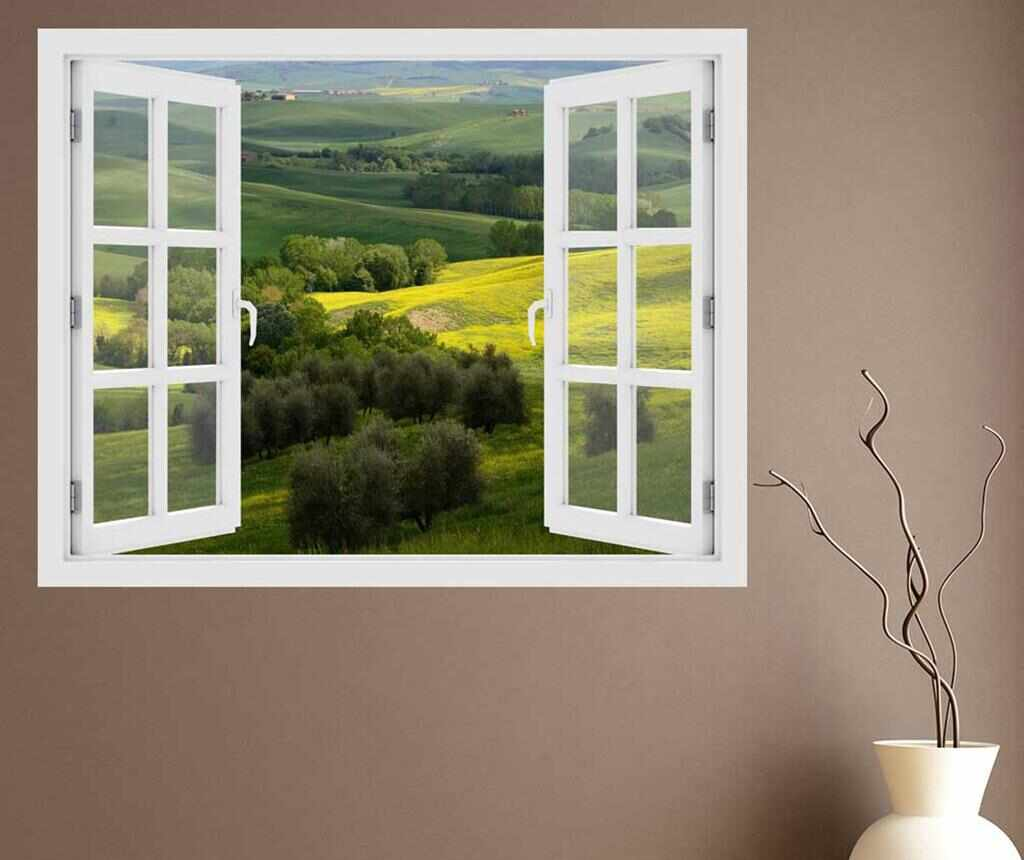 Sticker 3D Window Italy Toscana la pret 59.99 lei
