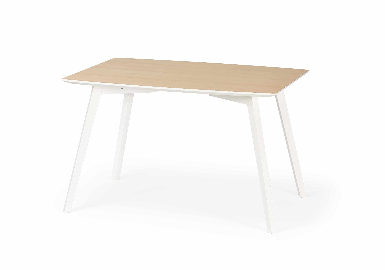 Masa din MDF si lemn de fag Petrus White / Wood, L120xl85xh75 cm la pret 909 lei