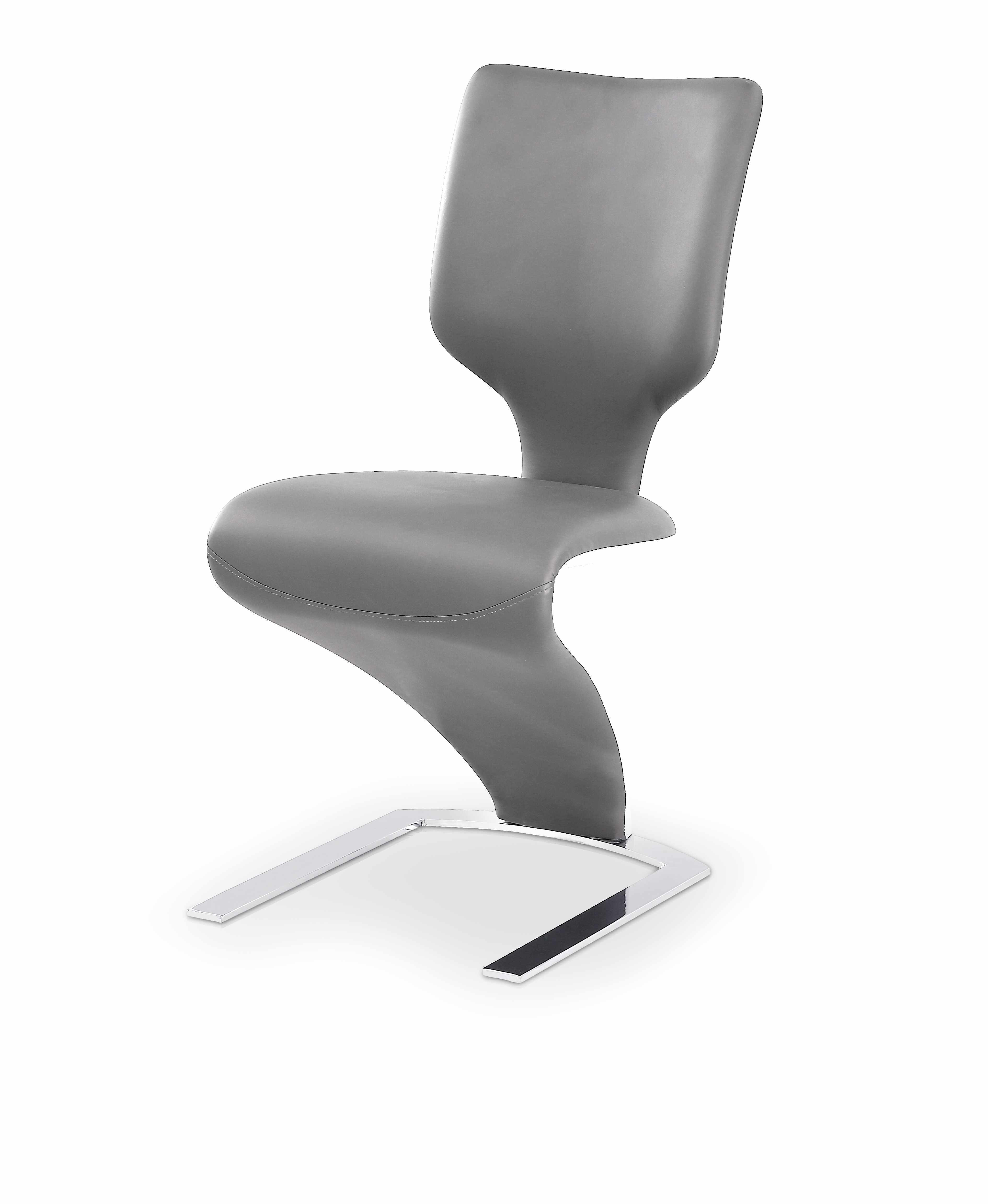 Scaun tapitat cu piele ecologica, cu picioare metalice K301 Grey / Light Grey, l46xA63xH95 cm la pret 410 lei