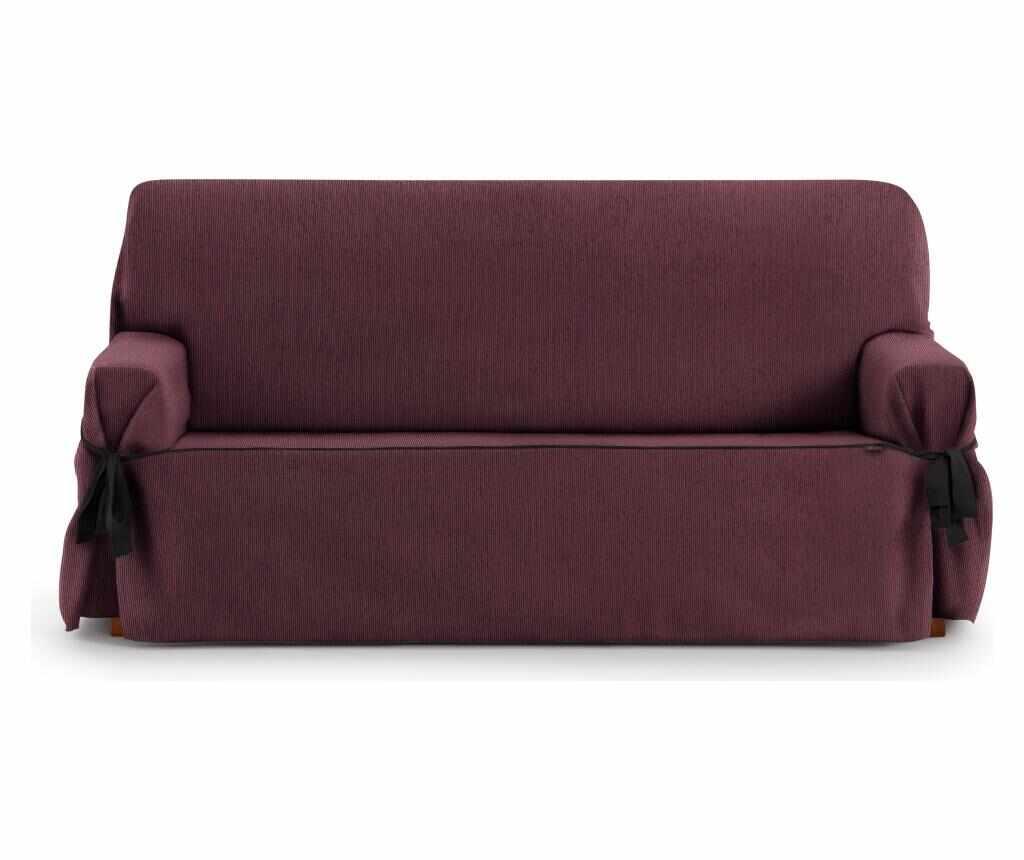 Husa ajustabila pentru canapea cu 3 locuri Chenille Ties Bordo 180-230 cm la pret 429.99 lei