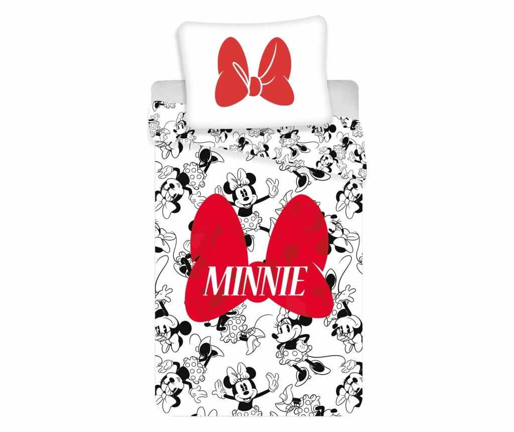 Set de pat Single Ranforce Minnie la pret 89.99 lei