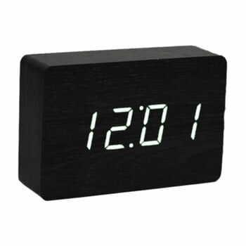 Ceas deșteptător cu LED Gingko Brick Click Clock, negru-alb la pret 306 lei