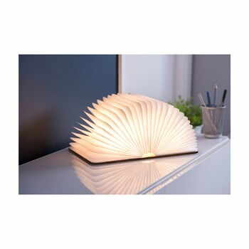 Veioză cu LED Gingko Mini, formă de carte, maro la pret 215 lei