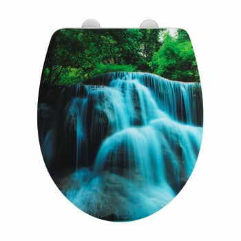 Capac WC cu închidere ușoară Wenko Waterfall la pret 228 lei