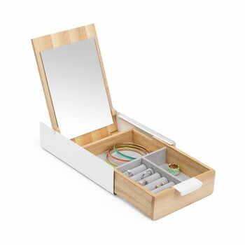 Cutie pentru bijuterii din lemn cu oglindă Umbra la pret 341 lei