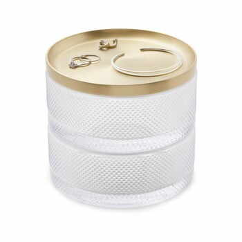 Cutie pentru bijuterii din sticlă și capac auriu Umbra Tesora la pret 304 lei