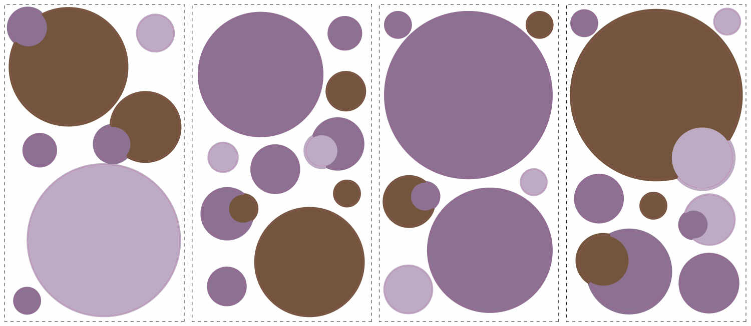 Sticker decorativ JUST DOTS PURPLE | 4 colite de 25,4 cm x 45,7 cm