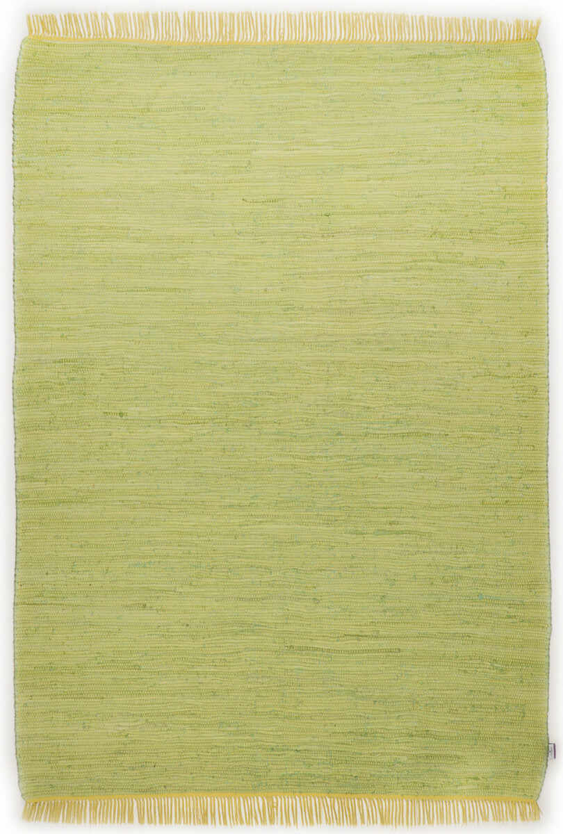 Covor Unicolor Cotton Colors, Bumbac, Verde, 60x120