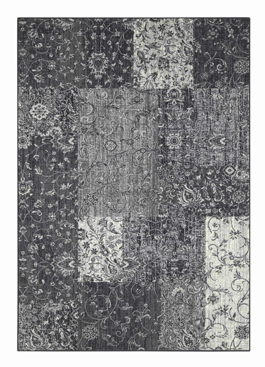 Covor Patchwork Celebration, Gri, 80x150 la pret 365 lei