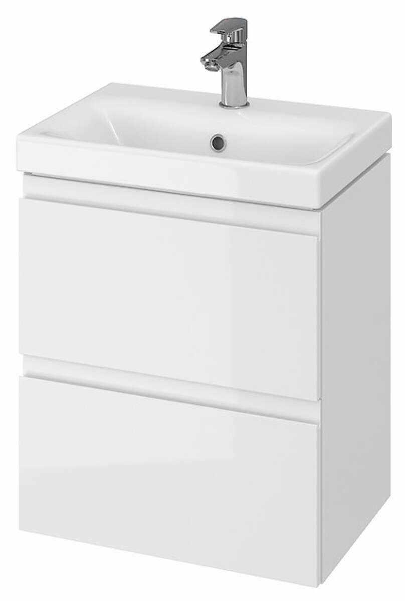 Mobilier baie Moduo Slim 50, pentru lavoar, cu doua sertare, alb, asamblat, 49.5x34.5x57 cm la pret 608.5 lei