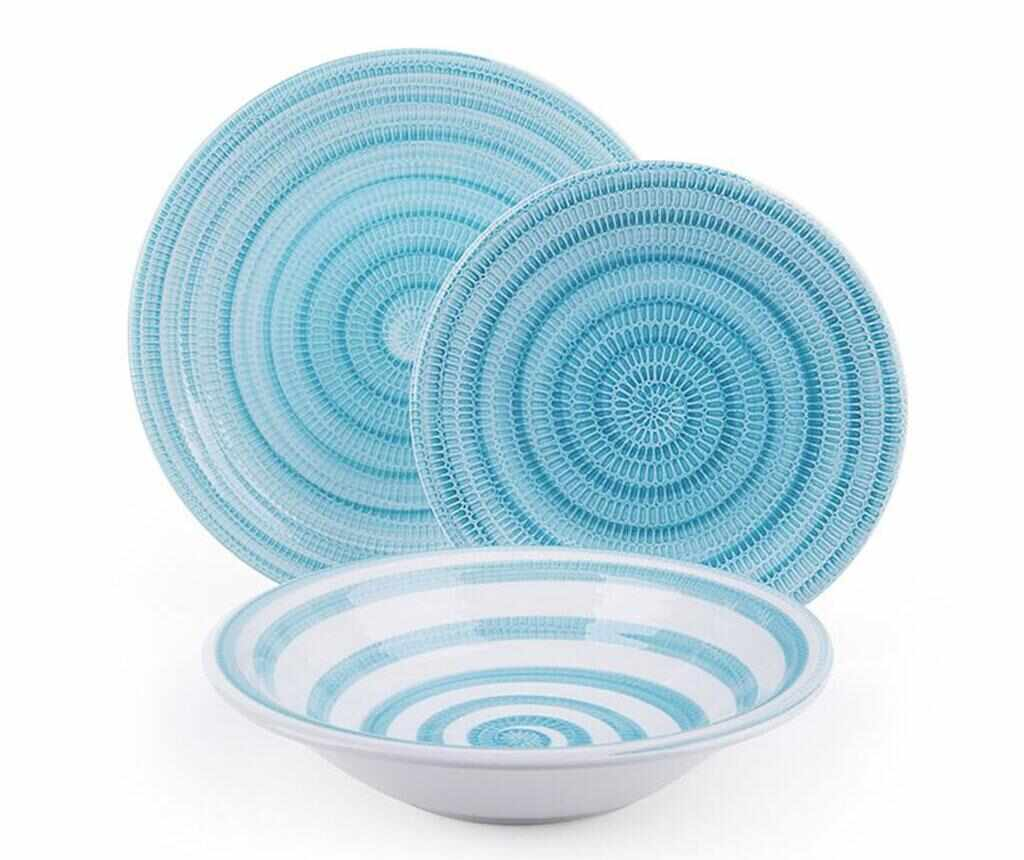 Set de masa 18 piese Old Italy Light Blue