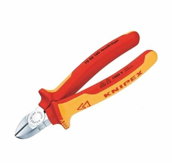 Cleste cu taiere diagonala Knipex KNI7006160T, 160 mm la pret 220.65 lei