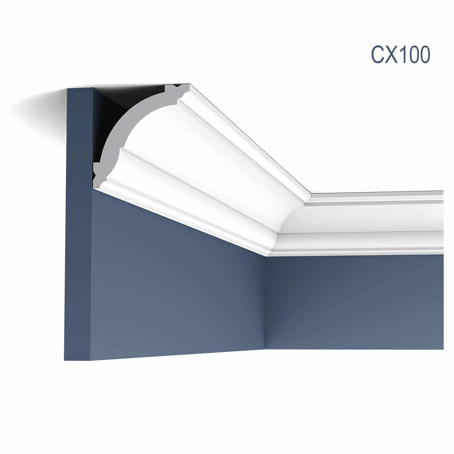 Cornisa Axxent CX100, Dimensiuni: 200 X 6.9 X 7.1 cm, Orac Decor