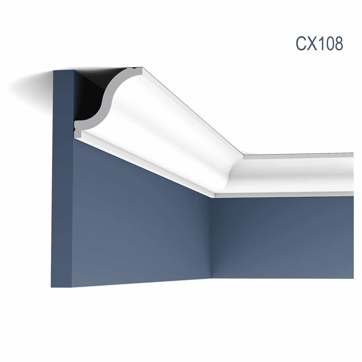 Cornisa Axxent CX108, Dimensiuni: 200 X 5.4 X 5.5 cm, Orac Decor