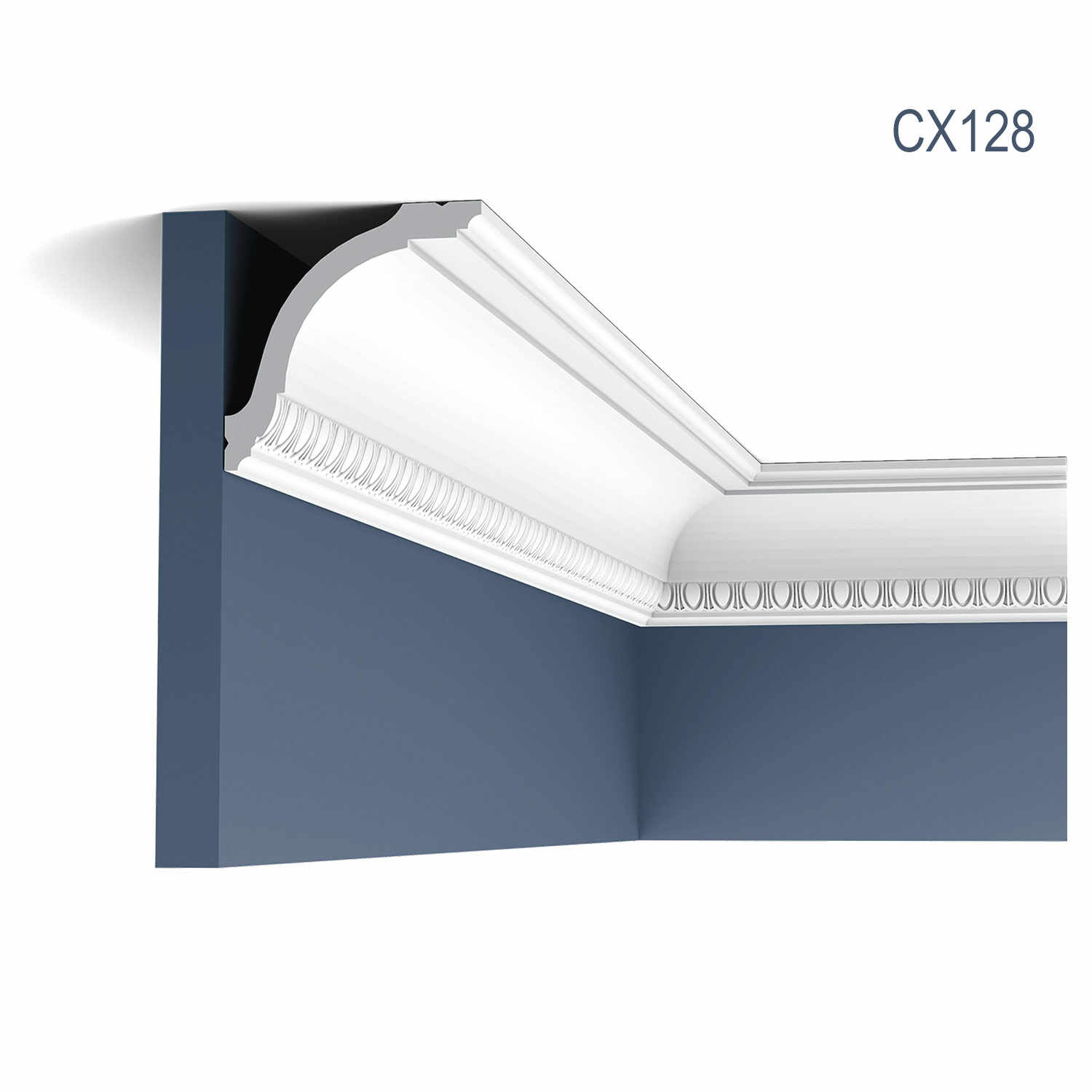 Cornisa Axxent CX128, Dimensiuni: 200 X 9.4 X 9.4 cm, Orac Decor
