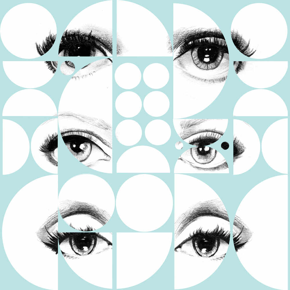 Tapet designer Illusions Eyes and circles sky, MINDTHEGAP