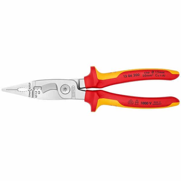 Cleste profesional combinat izolat Knipex KNI1386200, 200 mm, 6 in 1 la pret 343.56 lei