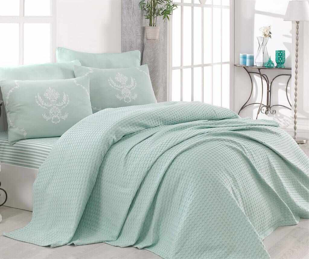 Lenjerie de pat Double Pique Pure Water Green la pret 129.99 lei