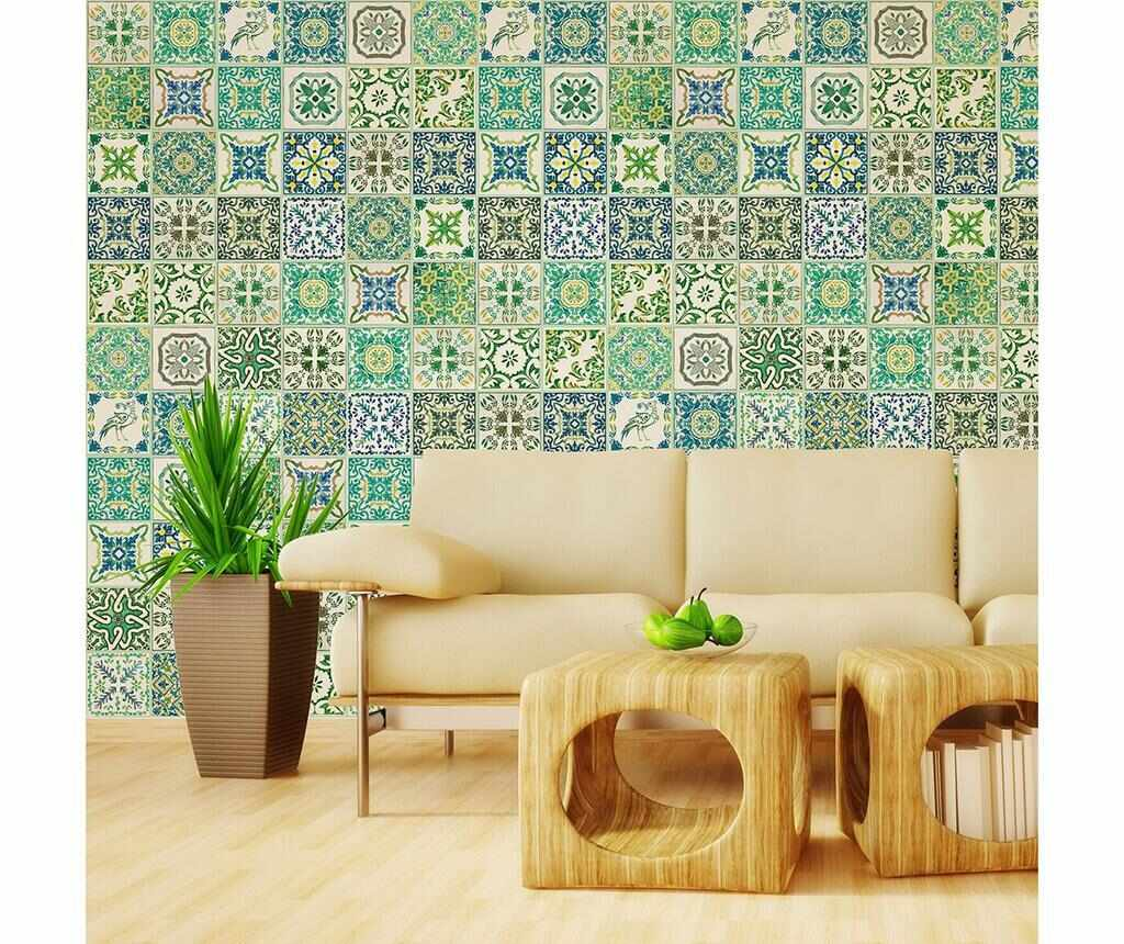 Set 12 stickere Turkish Green Mosaic la pret 105.99 lei