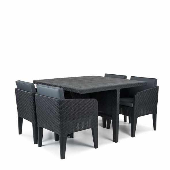 Set mobilier gradina 5 piese graphite Keter Columbia