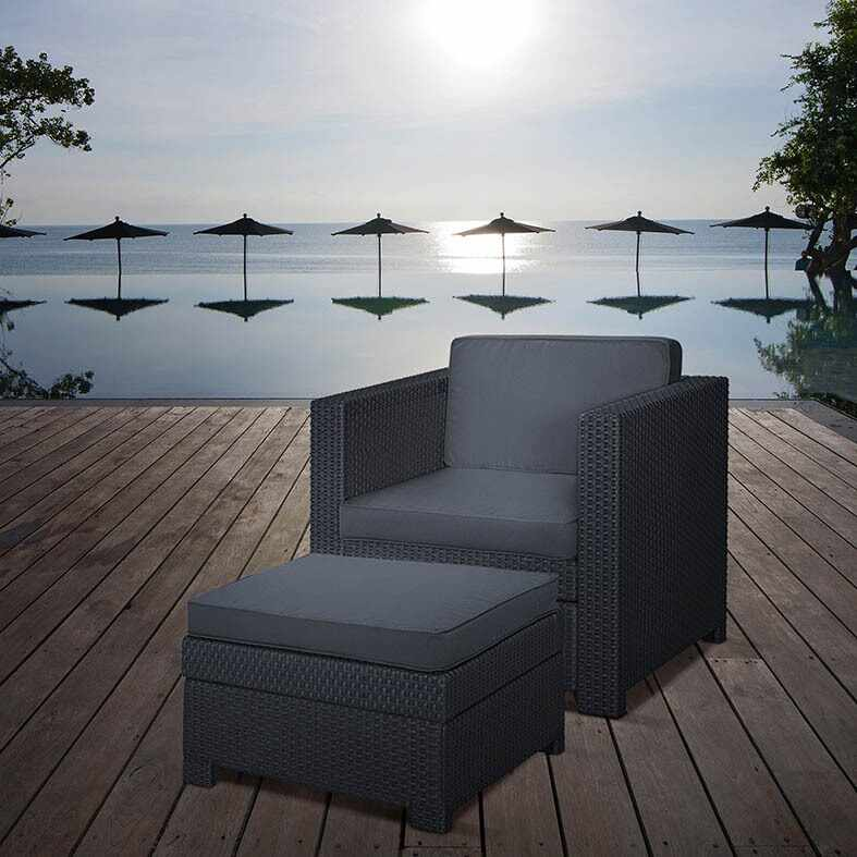 Set mobilier gradina graphite Keter Provence Chillout