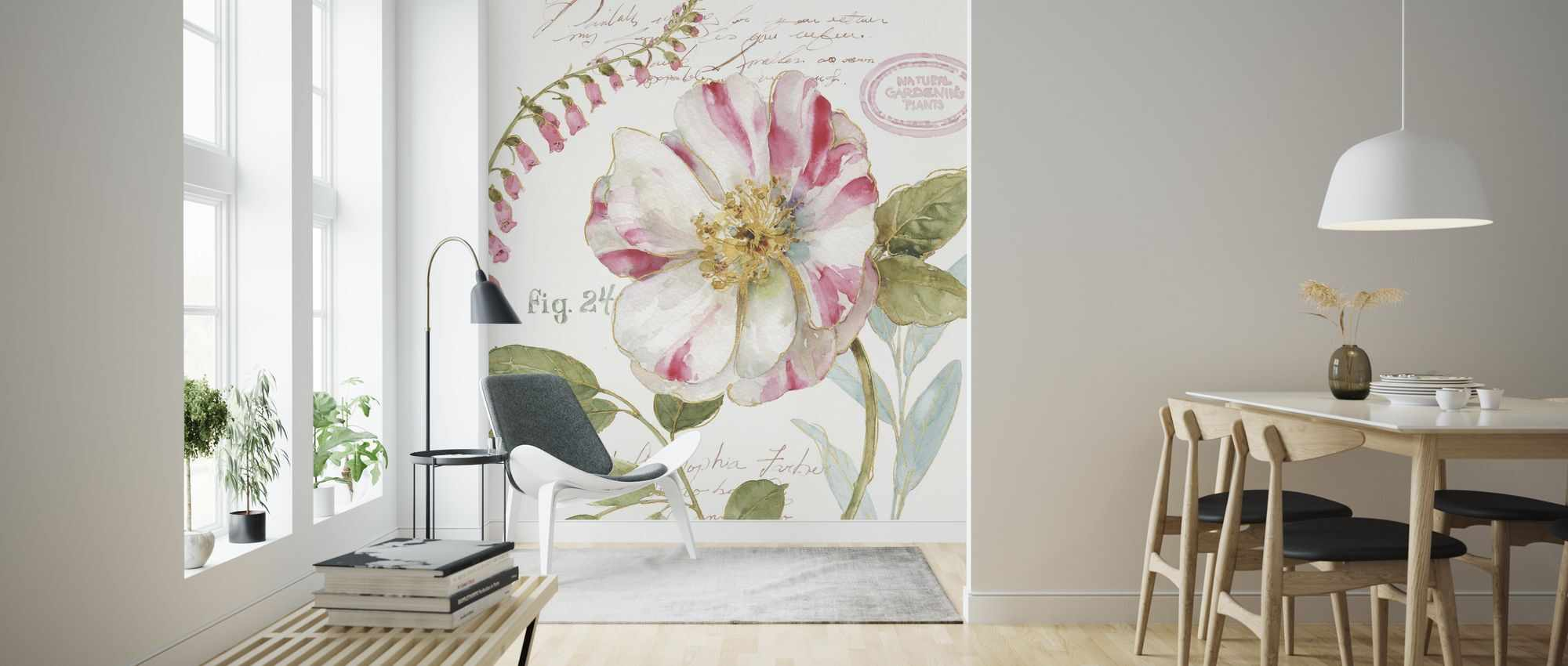 Fototapet Candy Cane Striped Flower personalizat, Photowall