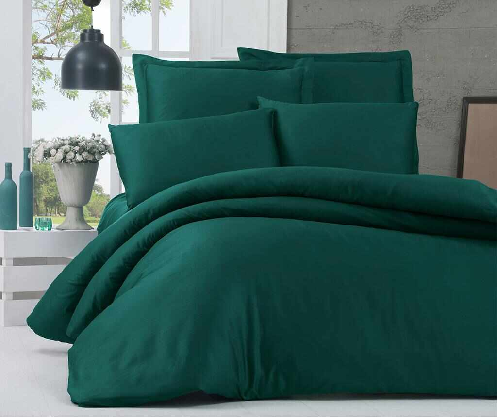 Lenjerie de pat King Satin Supreme Basic Green
