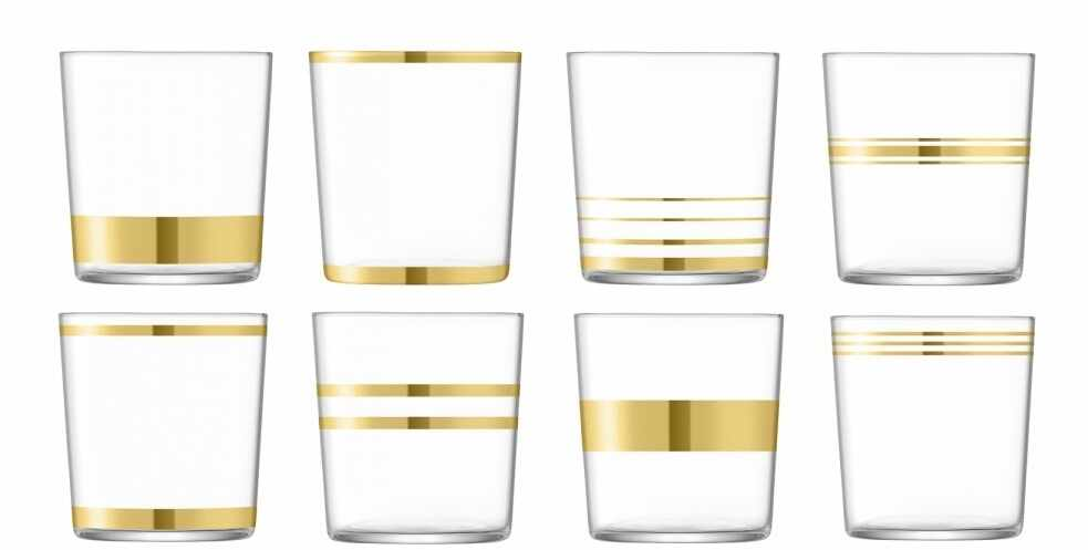 Set 8 pahare LSA International Deco Tumbler Gold 390ml la pret 301.51 lei