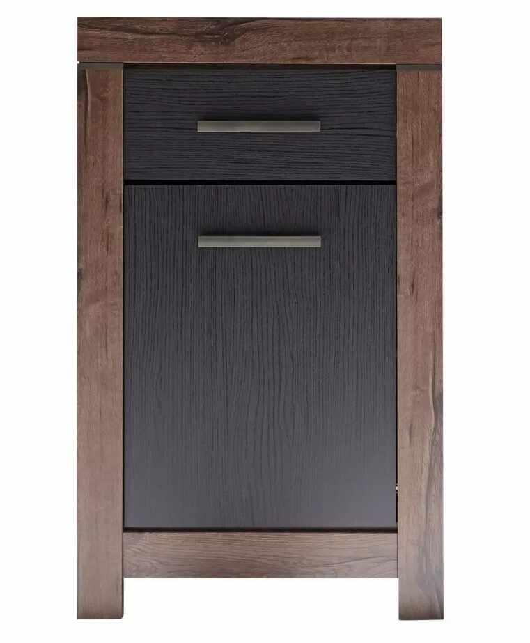 Cabinet din pal, cu 1 sertar si 1 usa Blake Stejar Negru / Stejar, l64xA45xH105 cm la pret 456 lei